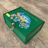 Avontuurlijke Kameleon, houten kist_