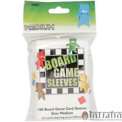 Board Game Sleeves Clear- Medium (57x89mm)