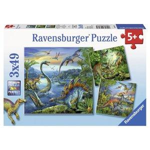 Dinosauri'rs Puzzel 3x49 stukjes