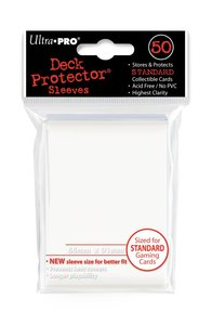 Deck Protector Sleeves Standard Wit  66mm x 91mm (50)