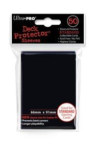 Deck Protector Sleeves Standard Zwart 66mm x 91mm (50)