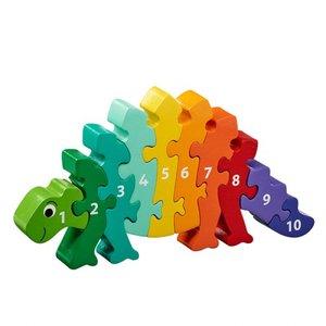 1-10 puzzel - Dinosaurus