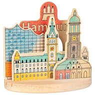 Houten kleurplaat, Hamburg - Goki (58712)
