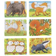 Mini-puzzel bosdieren - Goki (57709)